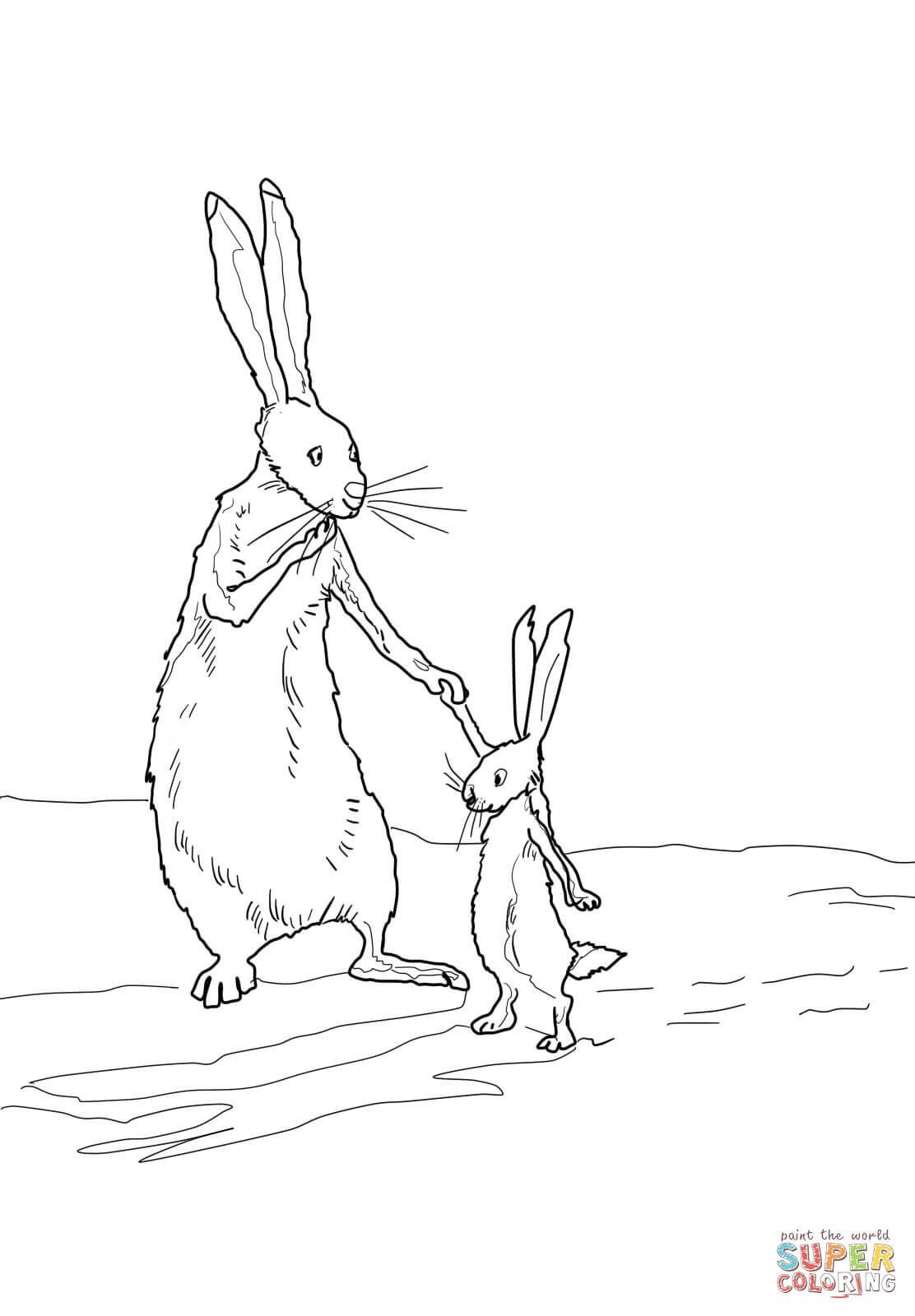 Ausmalbild Der Kleine Braune Hase Und Der Grosse Braune Hase Ausmalbilder Kostenlos Zum Ausdrucken Ausmalbilder Ausmalen Hase Zeichnen
