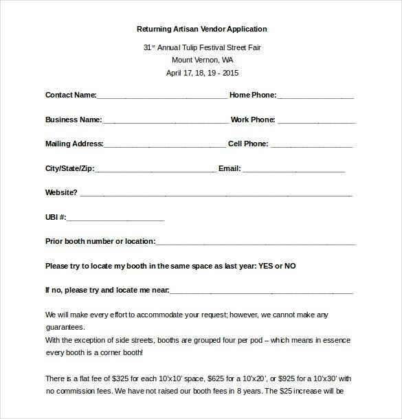 Vendor Registration Form Image Result For Vendor Registration Form
