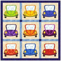 Free Quilt Pattern: Silly Cars