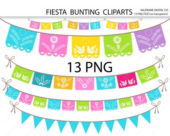 Fiesta Digital Bunting Clipart Birthday Banner Template Thanksgiving Clip Art Banner Clip Art