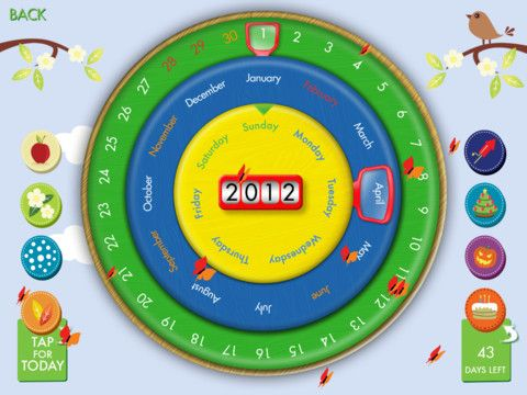 Circa Calendar 0 99 A Countdown Feature To Help Children Count