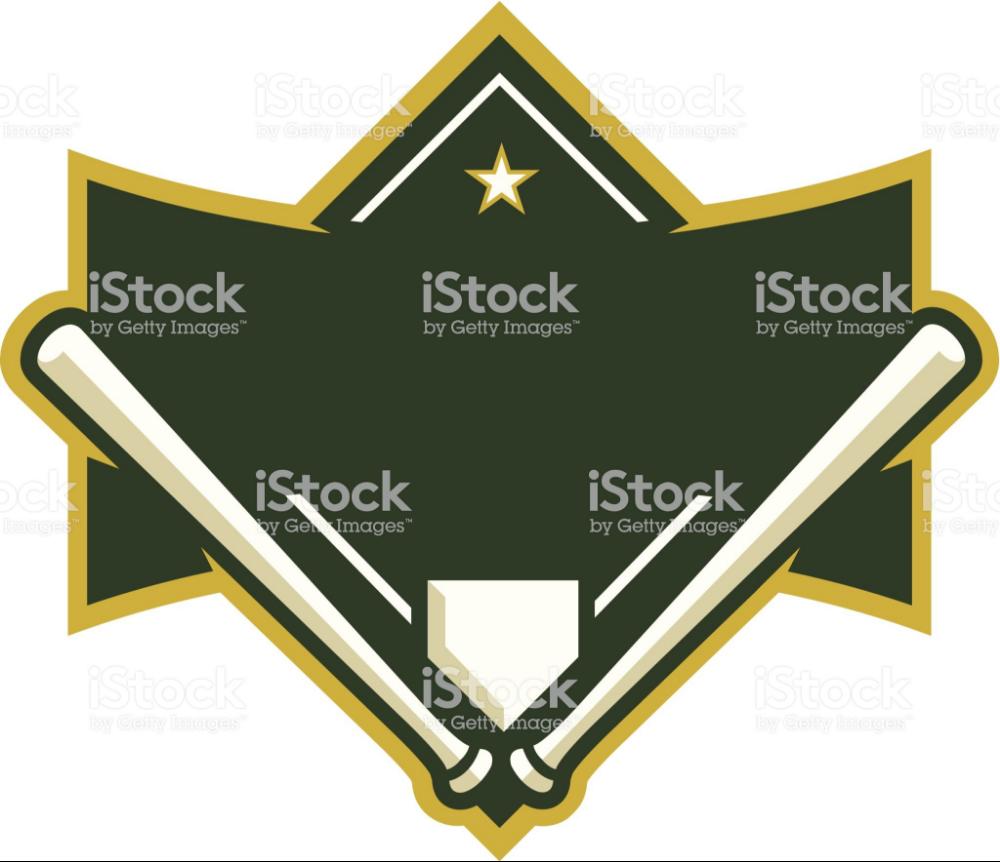 This Baseball Diamond Logo Is Perfect For Your Baseball Team League Baseball Diamond Stock Illustration Baseball