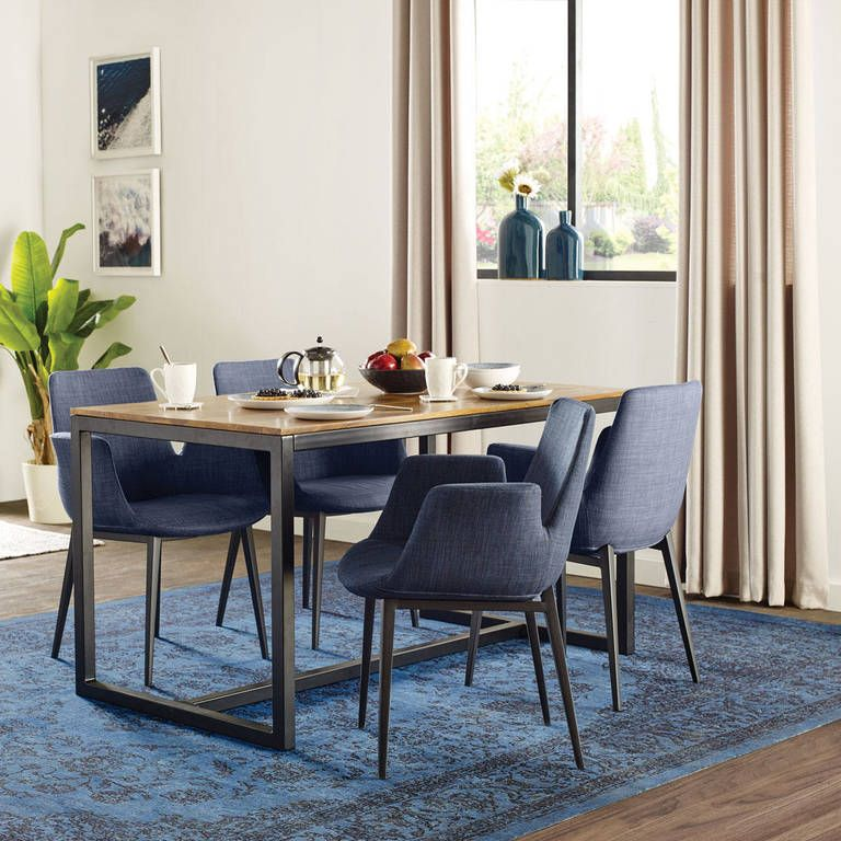 Crosby Dining Table 55 Sheesham Dining Chairs Gray Dining
