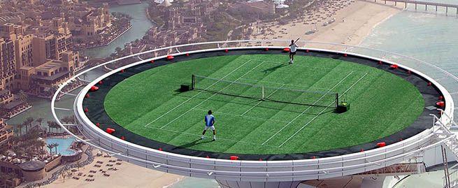 Dubai Tennis Court Awesome Viral Pinterest
