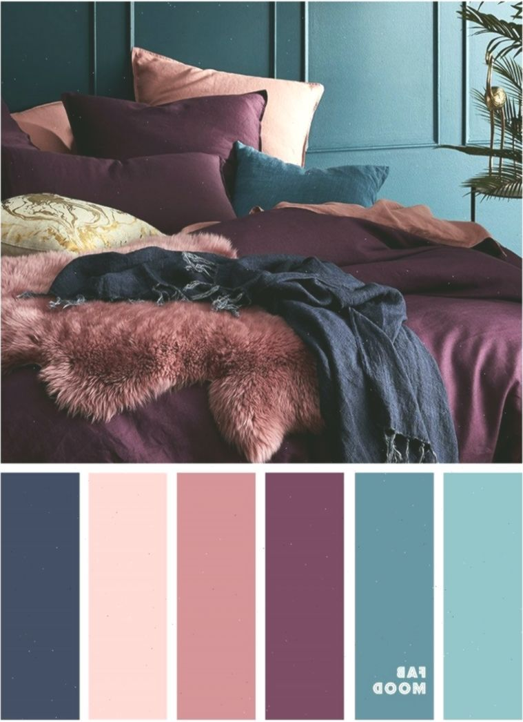 Peach Mauve Purple Navy Blue And Purple Colour Palette For Bedroom Schlafzimmer Bedroo In 2020 Bedroom Paint Colors Master Navy Blue Bedrooms Purple Color Palettes