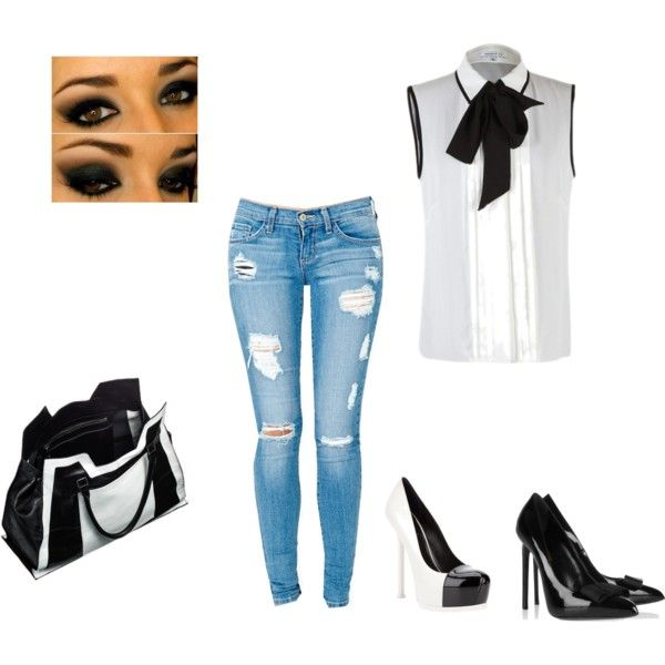 """""""black and white"""" by pennycollister on Polyvore"""