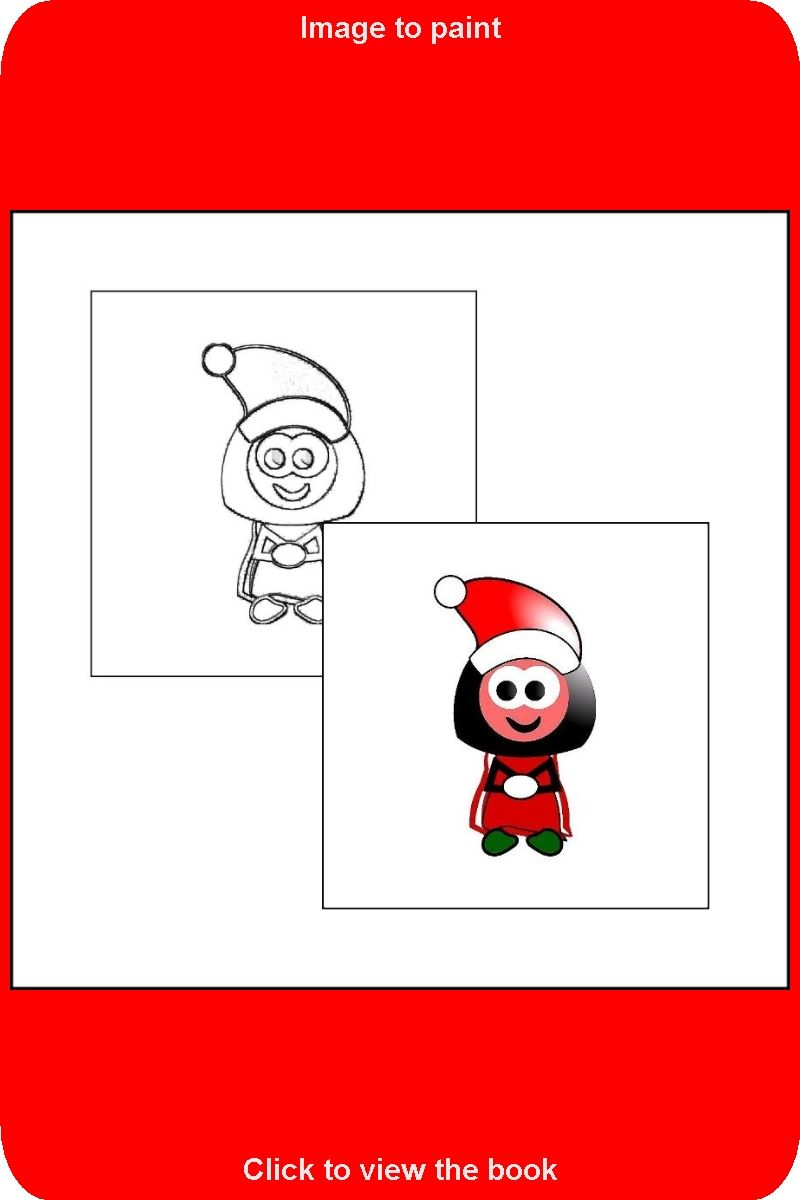 005 Sample Picture From The Book The Coloring Book With Santa Claus Coloring Books Toddler Coloring Book Book Wallpaper