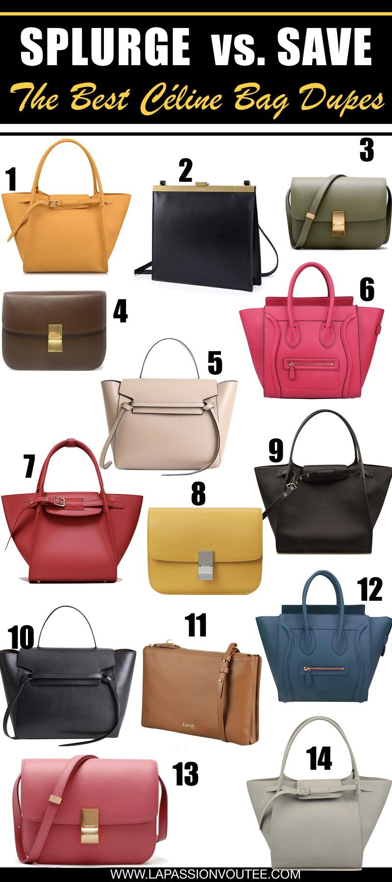 76ec7df5f07e7 Looking for the best Celine bag dupes? Read THIS post! This is your  ultimate guide to the most-wanted Céline bags and where to shop Celine  inspired bags ...