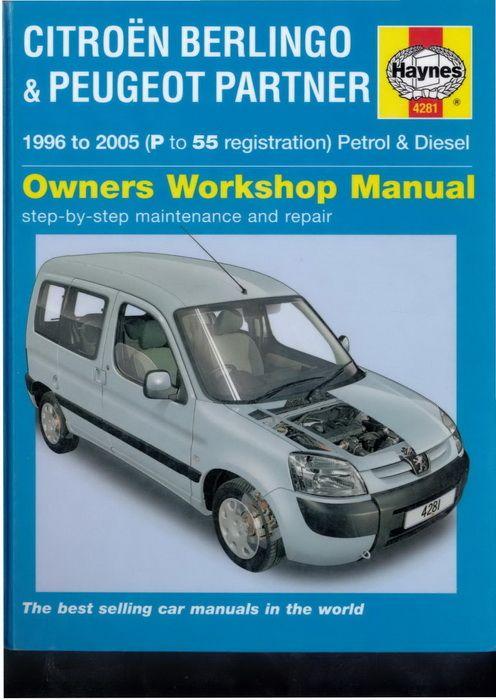 Rta Citroen Berlingo 2004 Peugeot Citroen Berlingo Repair Manuals
