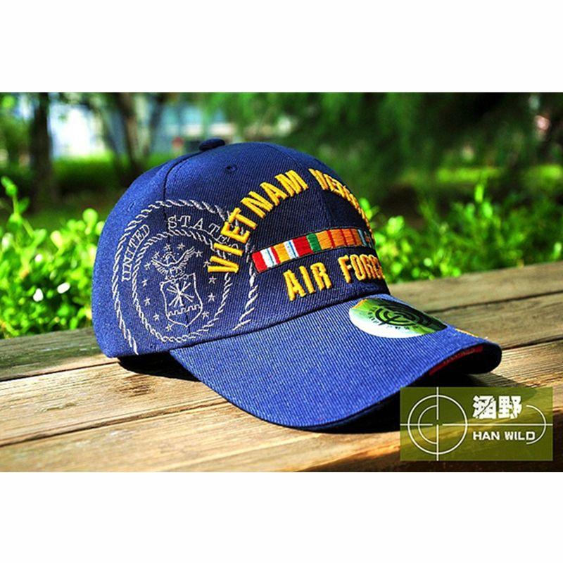 a4d8f863a6e HAN WILD WW2 Vietnam Vintage Cotton Gorras Memorable Air Force Cap Snapback  Letter Tactical Baseball Cap