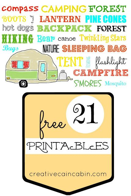photo about Free Printable Camping Signs identify Absolutely free Printables June Version Proportion Your Craft Tenting