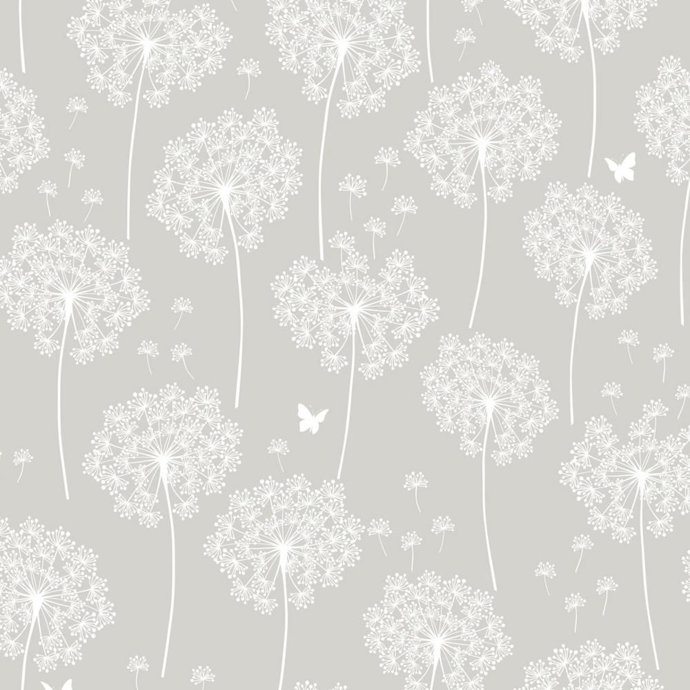 Nuwallpaper Dandelion Grey Vinyl Strippable Wallpaper Covers 30 75 Sq Ft Nu1651 The Home Depot Dandelion Wallpaper Vinyl Wallpaper Nuwallpaper