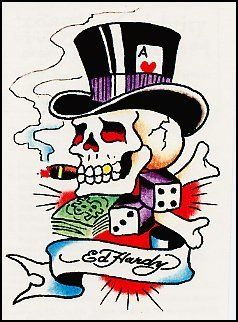 Ed Hardy-Gambling Skull Temporaray Tattoo by Tattoo Fun. $4.95. This ...