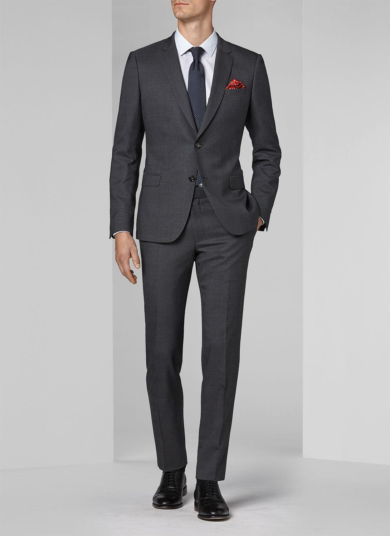 Grey Slim Fit Suit 16EC3MILY-F509 21 Fursac 3fe6e403f9b