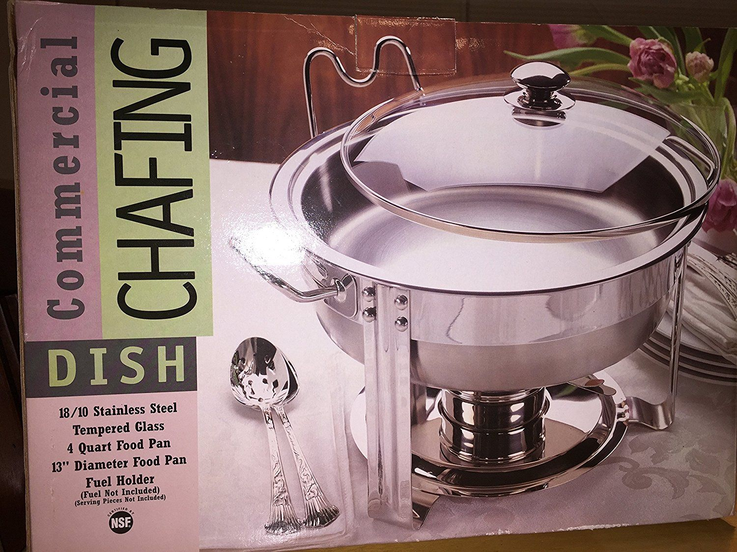 Seville Classics 4 Quart Stainless Steel Chafing Dish >> You can get more details here : Specialty Cookware