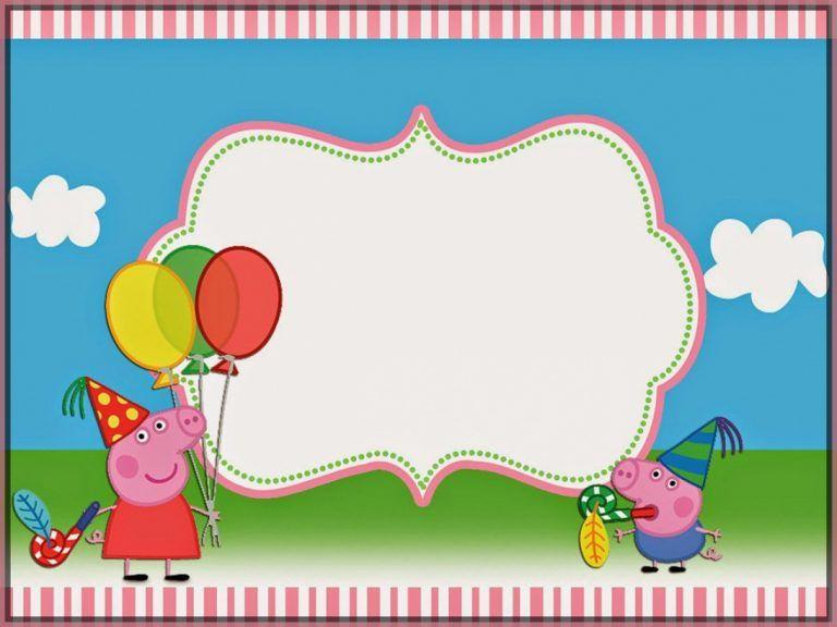 create peppa pig invitations template