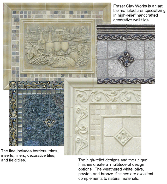 Decorative Tile Inserts Beauteous Fraser Clay Works Is An Art Tile Manufacturer Specializing In High Decorating Inspiration