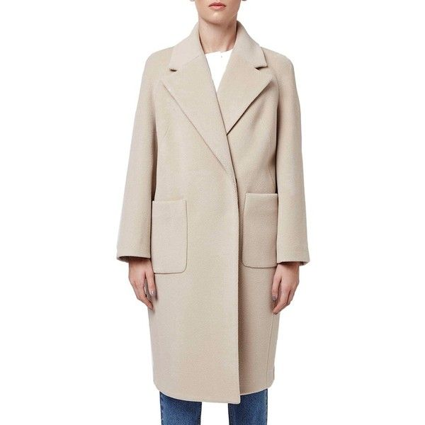 Topshop Boutique Longline Wool Coat ($475) ❤ liked on Polyvore ...