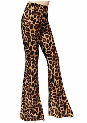 2a024182715be Leopard Print Bell Bottoms Flare Pants Size Large