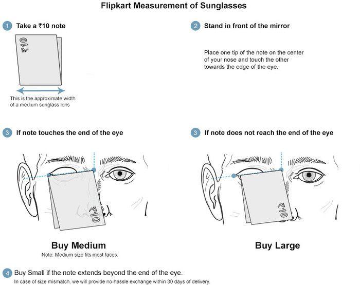 ray ban aviator sunglasses size chart