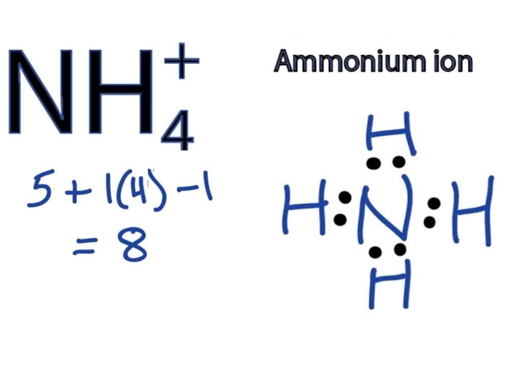 Nh4 Lewis Structure How To Draw The Dot Structure For Nh4 Ammonium Molecular Geometry Lewis Chemistry