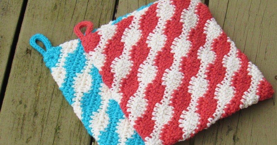 Free Potholder Crochet Pattern, Urban Kitchen Potholder, Crochet Pot ...