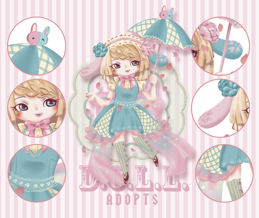 Happy Go Lucky Bunny ADOPTABLE [CLOSED] by dolladopt