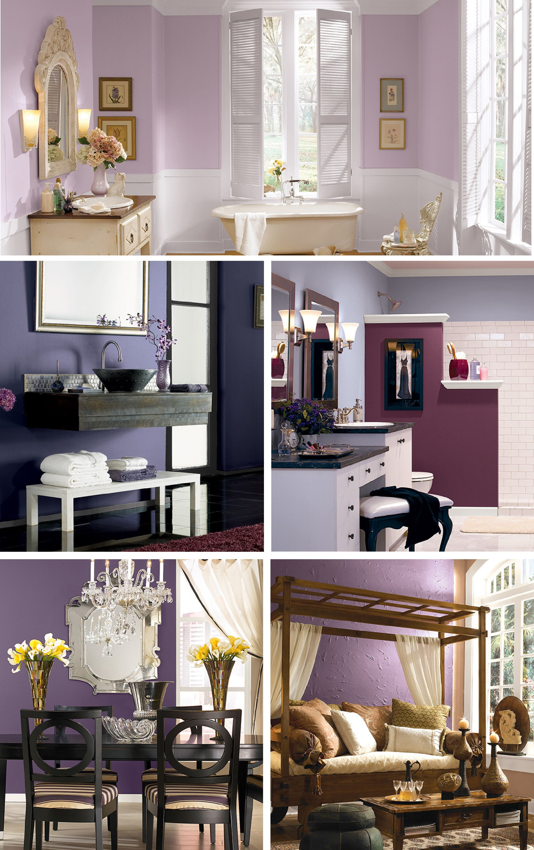Behr paint has just the soothing hue of purple youve been looking for whether you choose to refresh the bathroom bedroom or home office