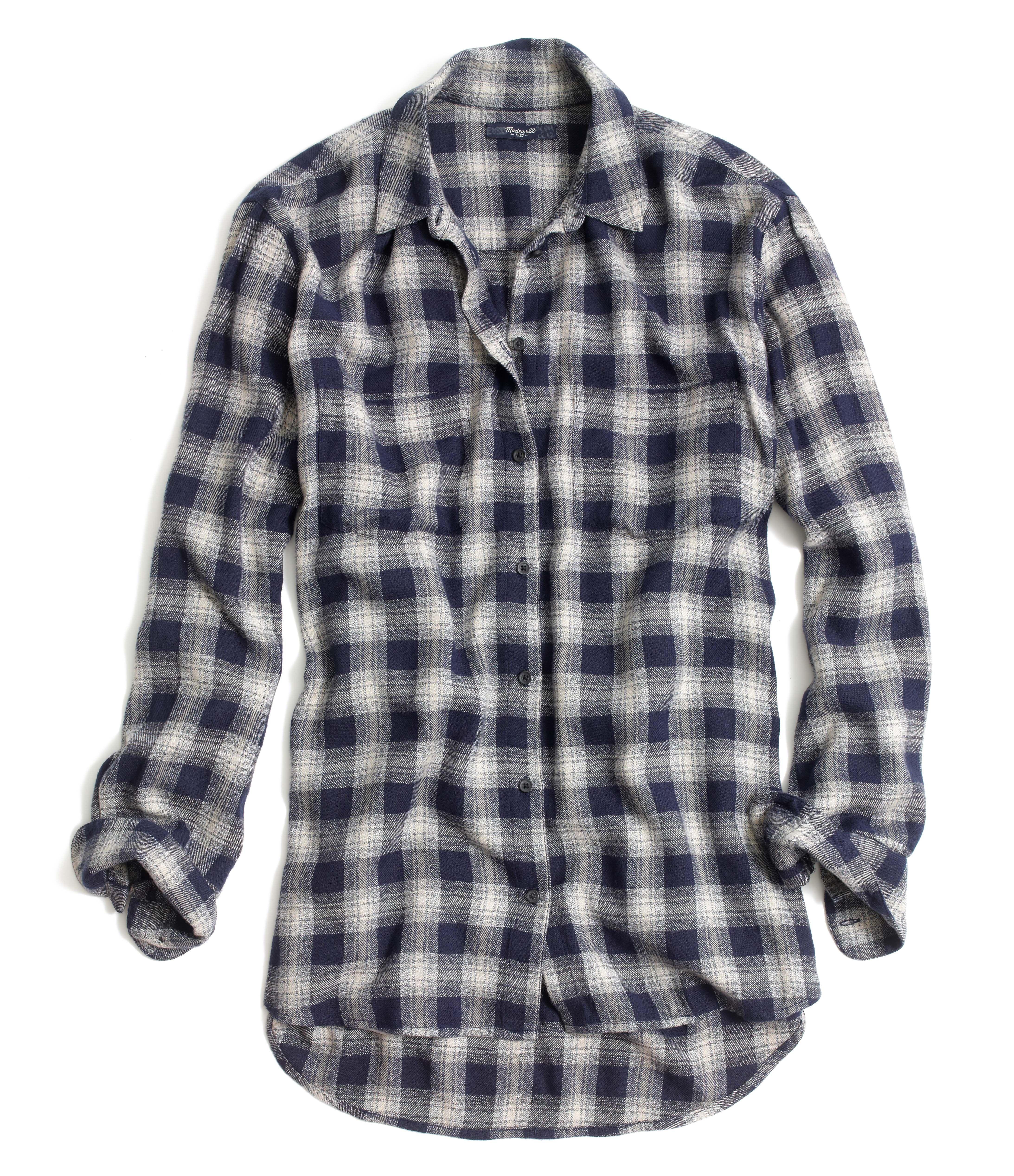 madewell oversized boyshirt in andover plaid. #everydaymadewell