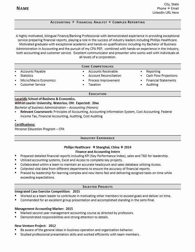 entry level accounting resume beautiful entry level