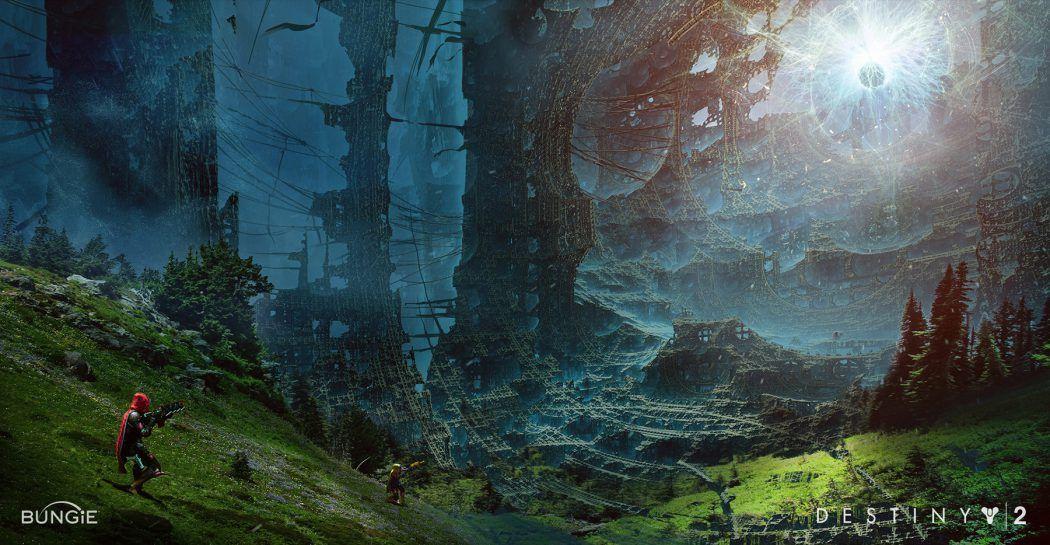 Destiny 2 Concept Art by Jesse van Dijk Concept art
