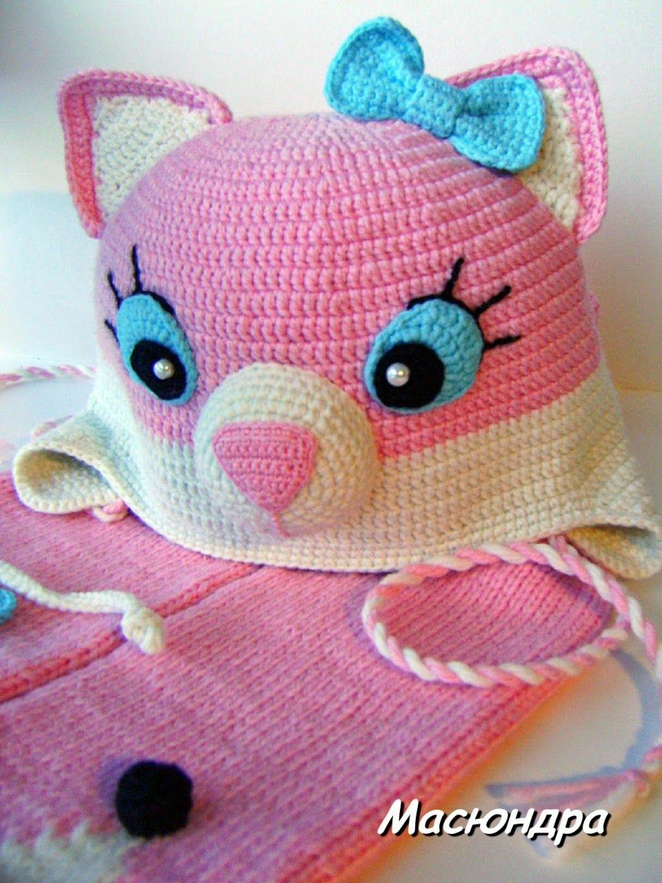 Croche pro Bebe  Gorros e chapéu em croche achados na net  3edd14d26b3