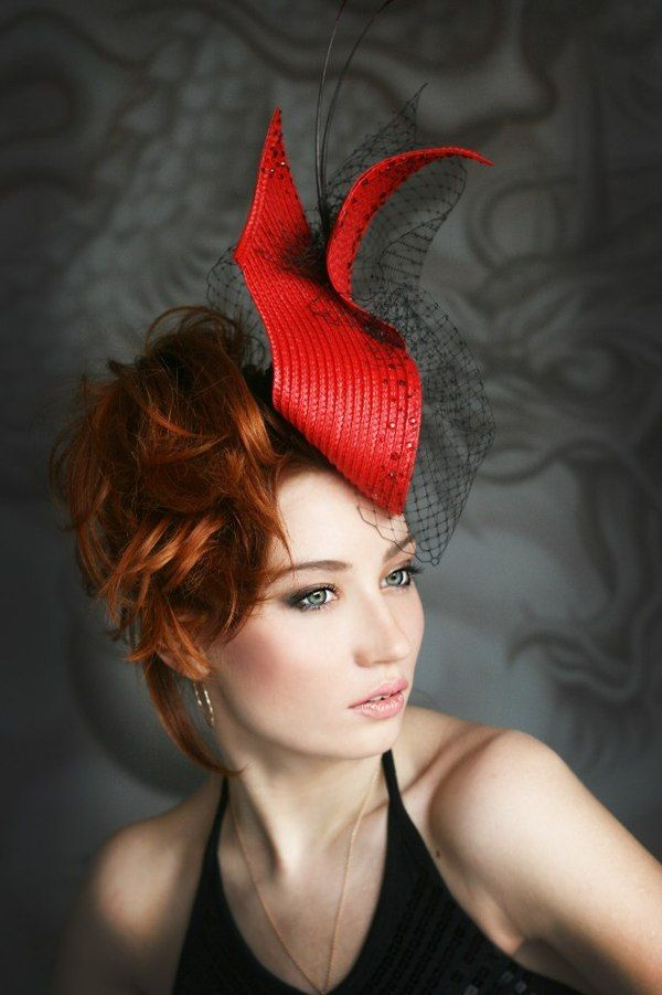 Elegant red hat  5f99399db76