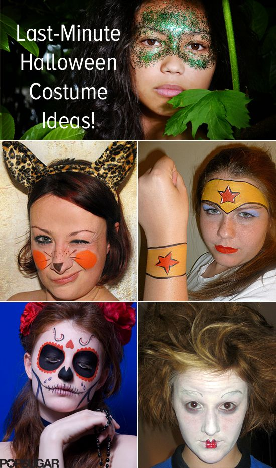 13 Lazy-Girl Halloween Costumes That Only Require Face Paint - awesome halloween costume ideas