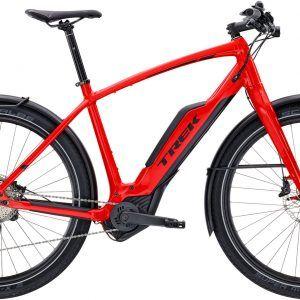Trek Super Commuter Plus 8 Electric Bike 2017 Viper Red Black Bike Deals Bike Shop Bike