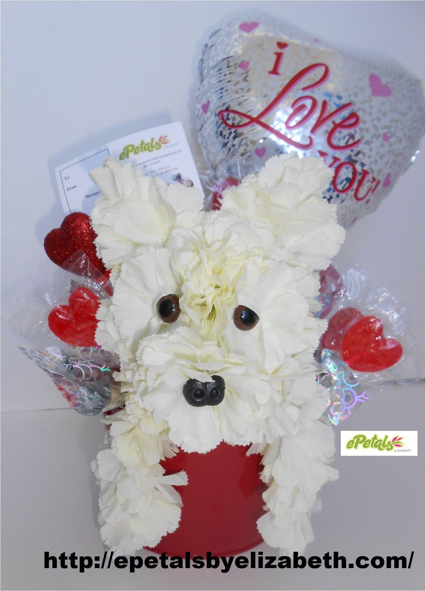 Puppy Carnation Flower Arrangements
