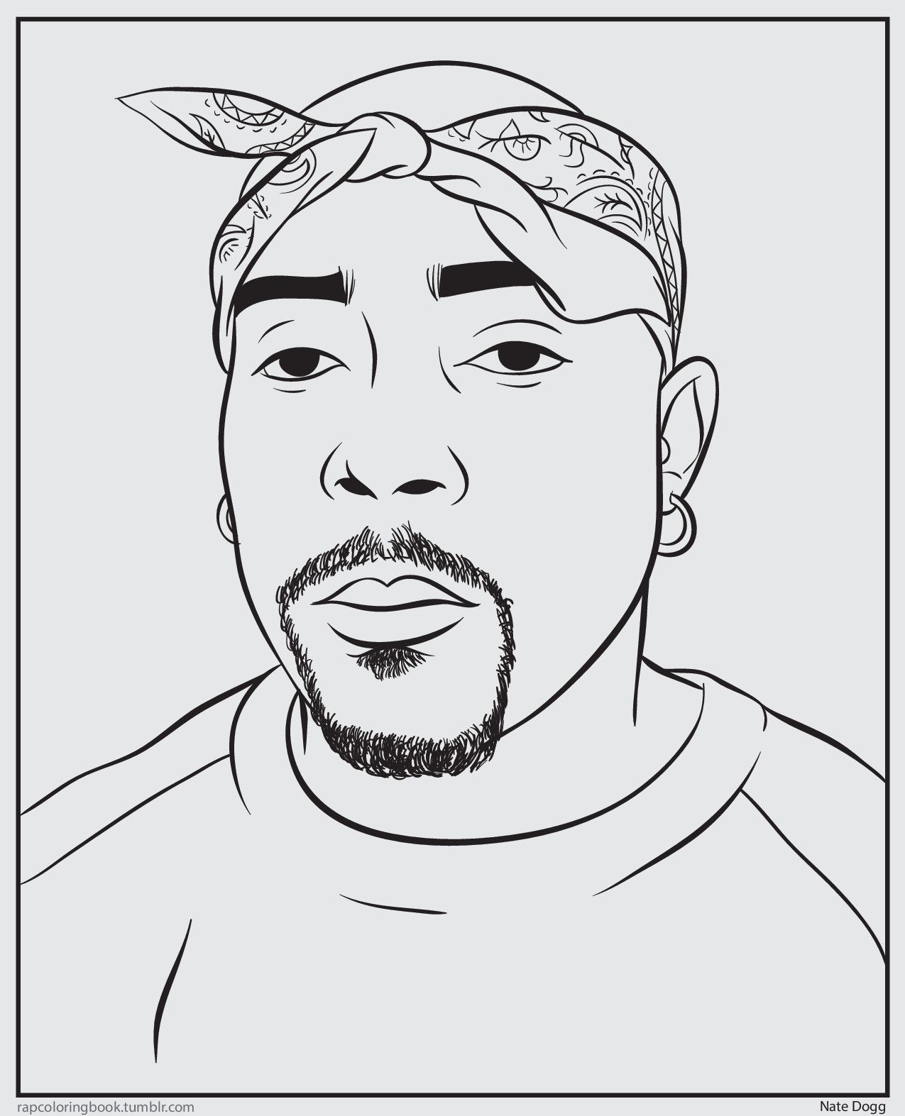 Bun B S Jumbo Coloring And Rap Activity Tumblr Click Here To Download The Nate Dogg Coloring Nate Dogg Art Nate Dogg Hip Hop Art