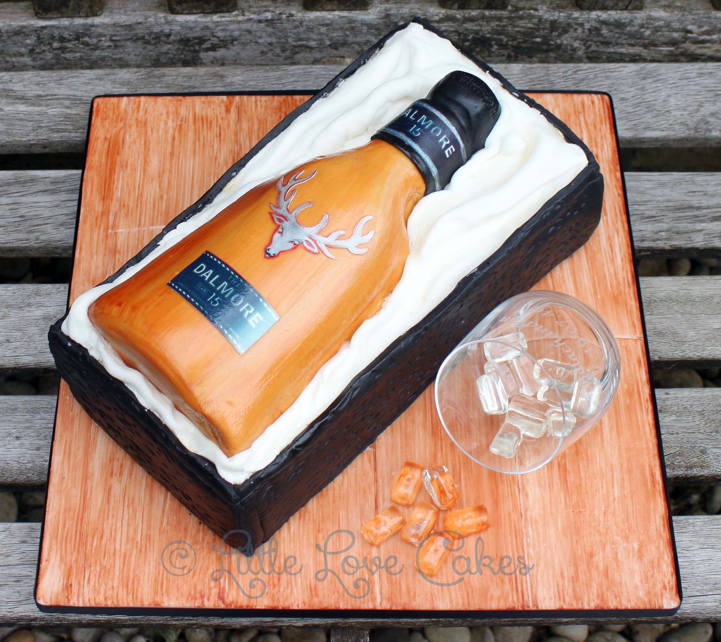 Dalmore Whisky Bottle In Box Cake 35th Birthday Cakes For Him Daddy