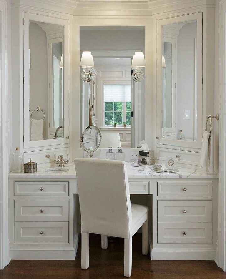 Walk In Closet Vanity Bathroom With Makeup Vanity Bathroom Remodel Master Bathroom Design