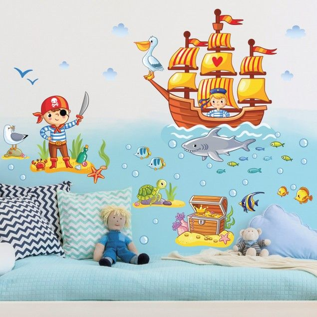 Wandtattoo Kinderzimmer Piraten Set Kinderzimmer Philipp Pinterest - wandsticker kinderzimmer junge idea