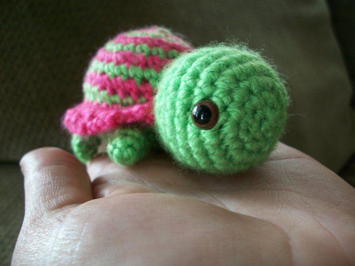 Tiny Striped Turtle ☺ Free Crochet Pattern ☺ | Crochet - I Made ...