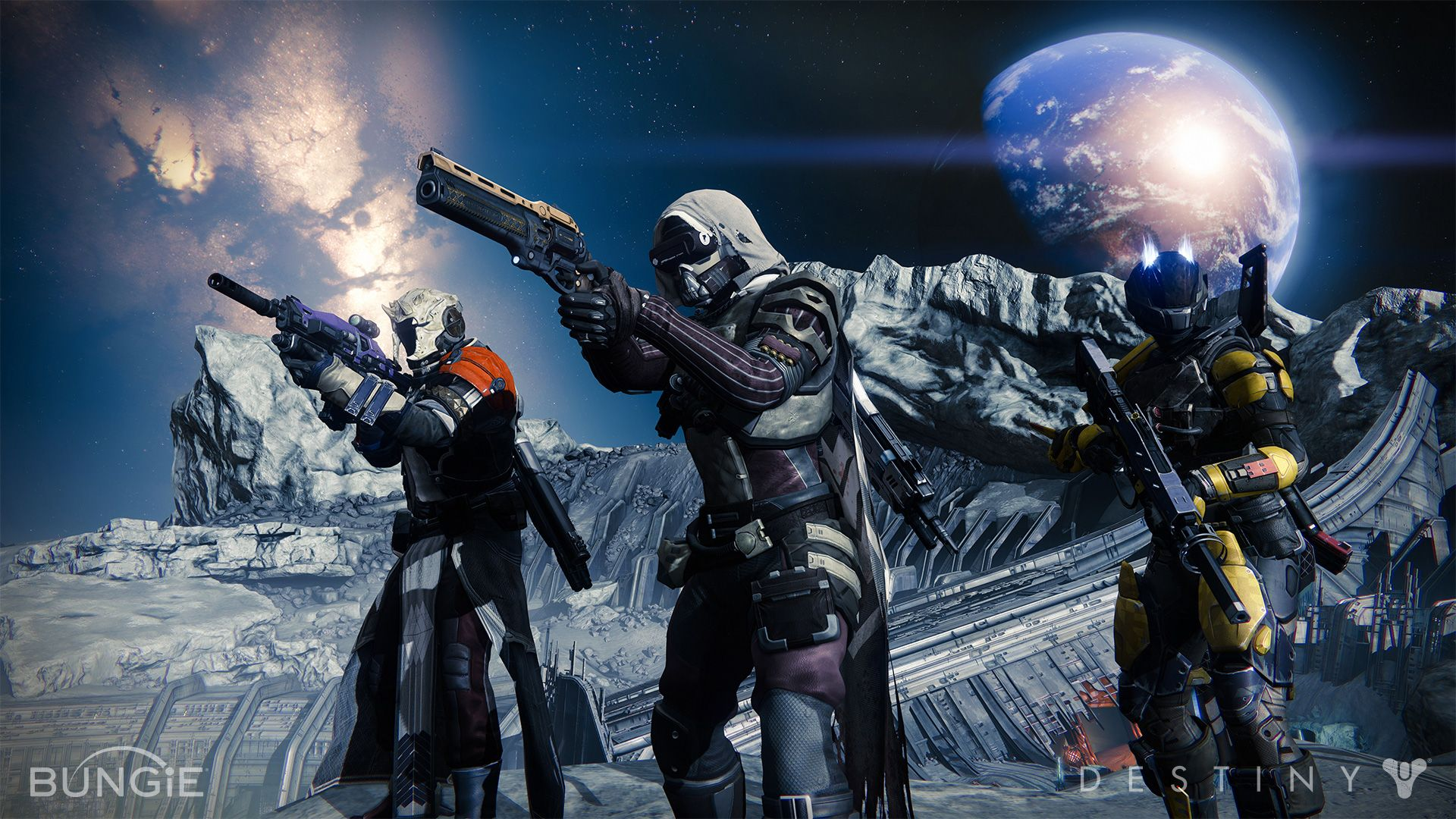 Hunter, Titan, and Warlock