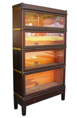 Good Antique Globe Wernicke Barrister Bookcase W1051 Ebay