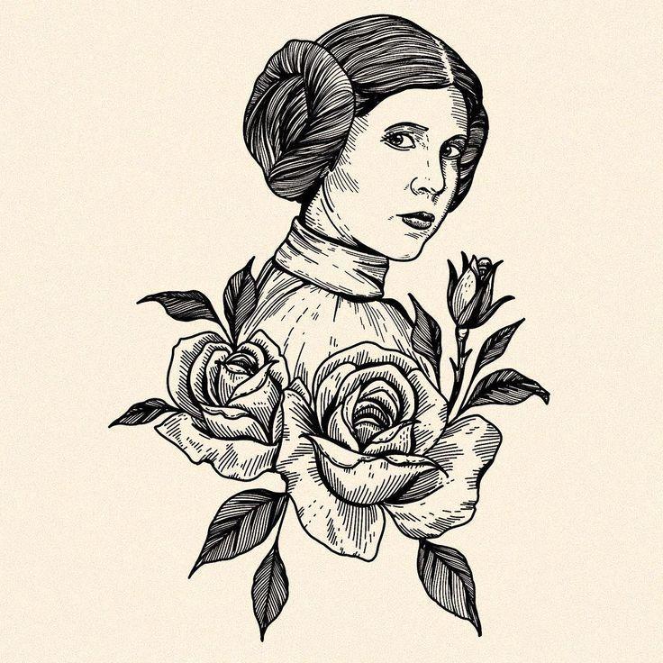 Princess Leia Tattoo Battlestar Galactica
