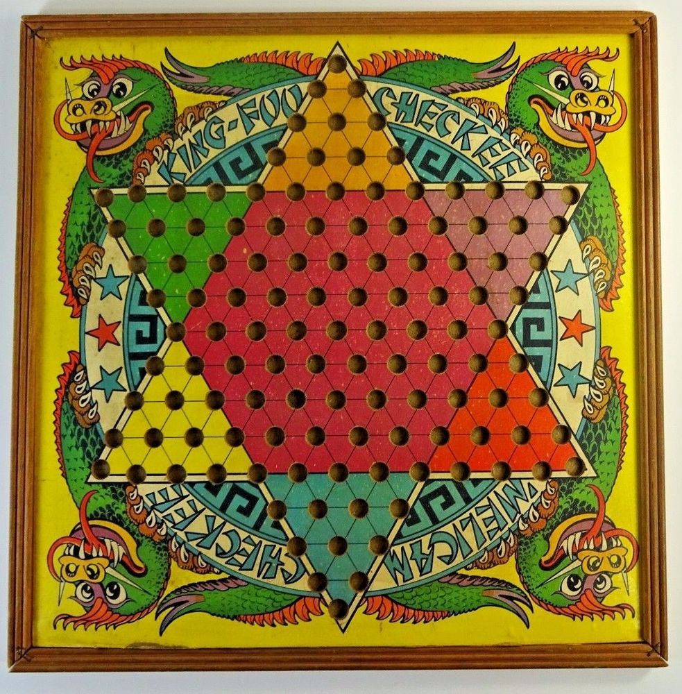 Vintage Chinese Checkers Checkers Game Board Wall Art