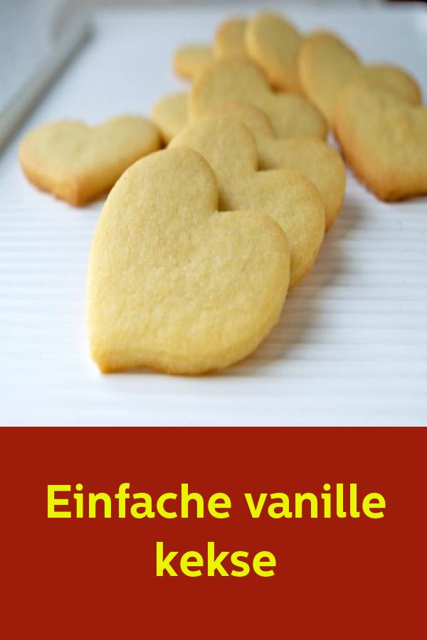 Einfache vanille kekse #plätzchenrezept