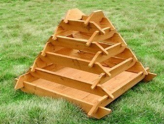 pyramid garden planters, raised vegetable planters - outdoor