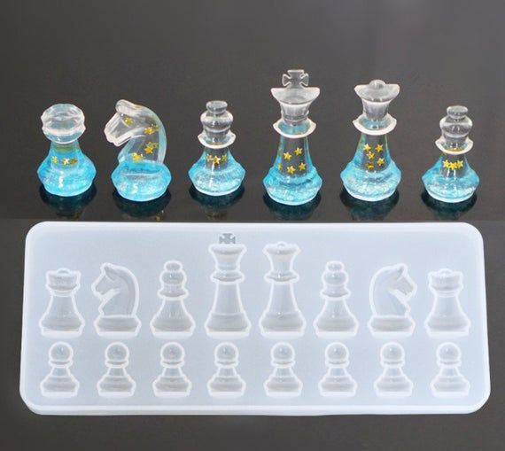 Photo of Silicone chess mold – Clear resin mold for chess – chess molds for craft making – DIY international chess moulds – 3d chess mold