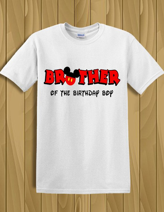 Tshirt Disney Mickey Mouse Ears Brother Of The Birthday Boy Shirt Personalized Party By CleanlyWheatGraphics On Etsy