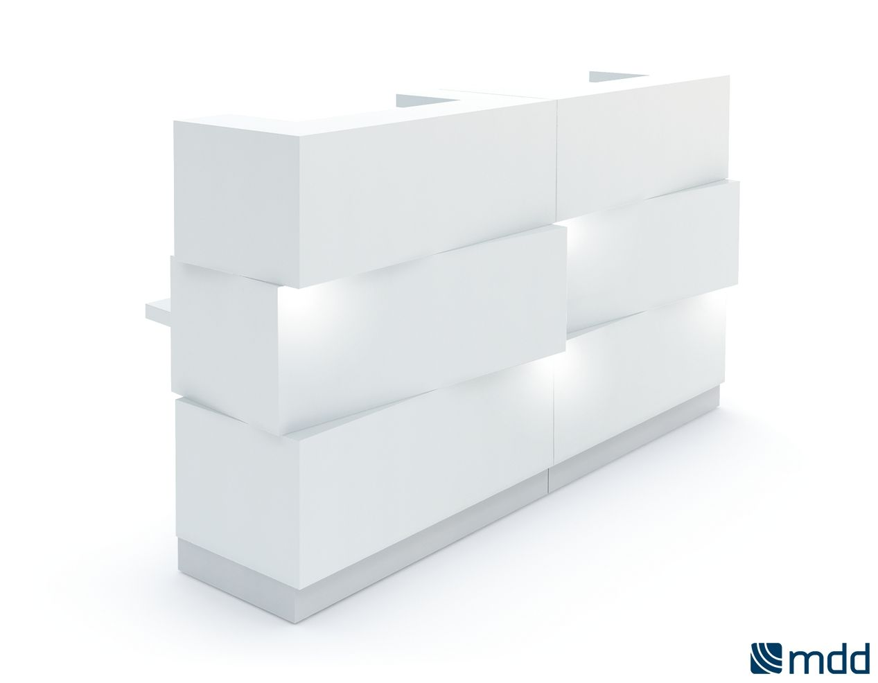 Reception Desks - Zen | MDD | Reception furniture | Glass office desk | Glass office desk